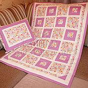 Для дома и интерьера ручной работы. Ярмарка Мастеров - ручная работа двусторонний комплект - лоскутное одеяло с подушкой. Handmade.
