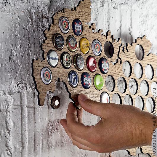 Комплекты аксессуаров ручной работы. Ярмарка Мастеров - ручная работа. Купить Карта для пивных крышек (Beer cap map). Handmade.