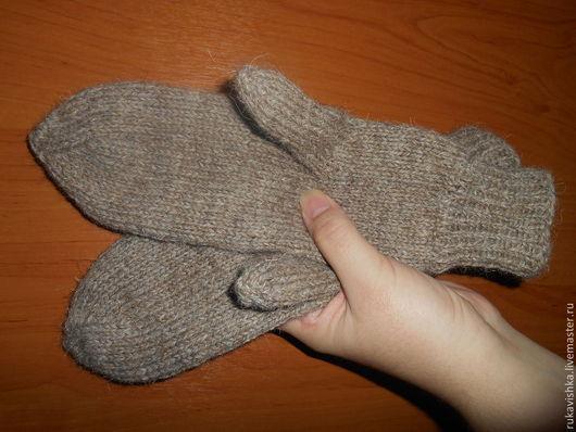 Варежки, митенки, перчатки ручной работы. Ярмарка Мастеров - ручная работа. Купить Варежки вязаные бежевые. Handmade. Бежевый