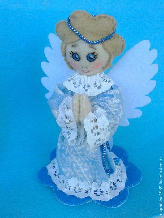 Сказочные персонажи ручной работы. Ярмарка Мастеров - ручная работа. Купить Ангелочки из фетра. Handmade. Голубой, сувениры из фетра