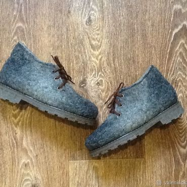 Footwear handmade. Livemaster - original item Boots are felted from undyed wool. Handmade.