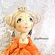 """Коллекционные куклы ручной работы. Ярмарка Мастеров - ручная работа. Купить Кукла """"Принцесса"""". Handmade. Оранжевый, авторская ручная работа"""