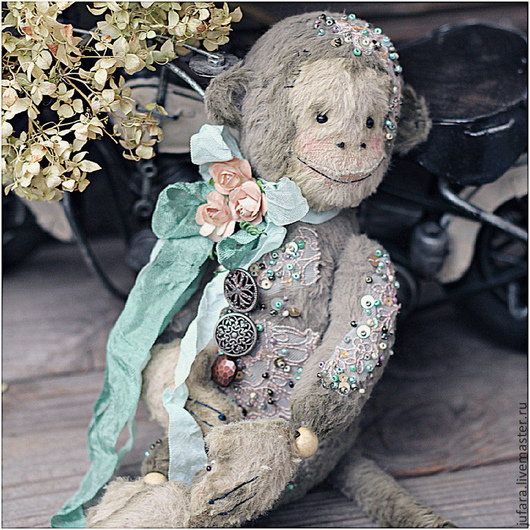 Мишки Тедди ручной работы. Ярмарка Мастеров - ручная работа. Купить Teddy monkey. Handmade. Серый, телесный, тедди, шплинты
