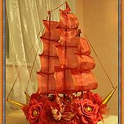 """Цветы и флористика ручной работы. Ярмарка Мастеров - ручная работа Букет из конфет """"Алые паруса"""". Handmade."""