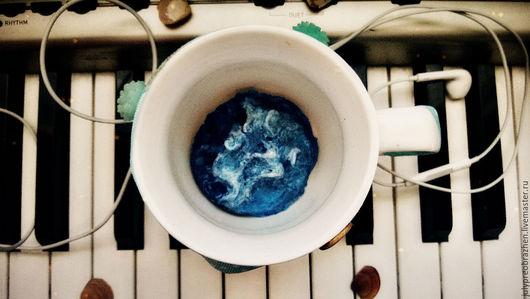 Кружки и чашки ручной работы. Ярмарка Мастеров - ручная работа. Купить Океан в вашей чашке. Handmade. Тёмно-бирюзовый