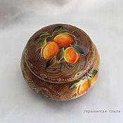 Для дома и интерьера ручной работы. Ярмарка Мастеров - ручная работа Шкатулка из карагача с абрикосами. Handmade.