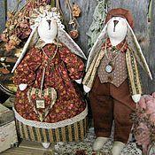 Куклы и игрушки ручной работы. Ярмарка Мастеров - ручная работа Тильда-зайцы Арни иТая. Handmade.