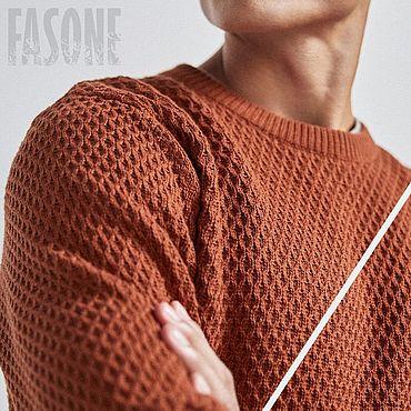 Clothing handmade. Livemaster - original item Jerseys: Copper sweater men