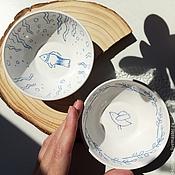 Посуда ручной работы. Ярмарка Мастеров - ручная работа Керамические пиалы. Handmade.
