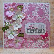Открытки ручной работы. Ярмарка Мастеров - ручная работа Открытка Love Letters. Handmade.