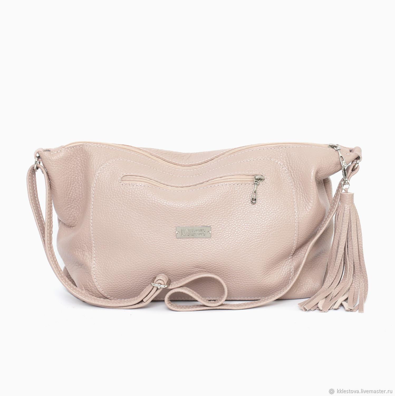 Online Handbags handmade. Order Ashes rose soft leather shoulder Bag with  crossbody strap. BagsByKaterinaKlestova. dd5c93159b291
