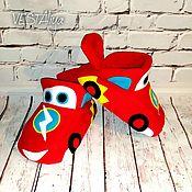 Обувь ручной работы handmade. Livemaster - original item Slippers-Cars. Handmade.