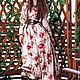 """Платья ручной работы. Длинное платье """"Цветы и кожа"""". Yansons Domik (yansonsdomik). Интернет-магазин Ярмарка Мастеров. Цветочный, yansonsdomik"""