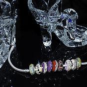 Материалы для творчества ручной работы. Ярмарка Мастеров - ручная работа Маленькие бусины в стиле пандора калейдоскоп. Handmade.