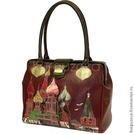 Женские сумки ручной работы. Ярмарка Мастеров - ручная работа. Купить Москва. Handmade. Бордовый, саквояж кожаный