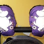 Работы для детей, ручной работы. Ярмарка Мастеров - ручная работа Муфты для колясок Муми-тролли фиолетовый, фуксия.. Handmade.