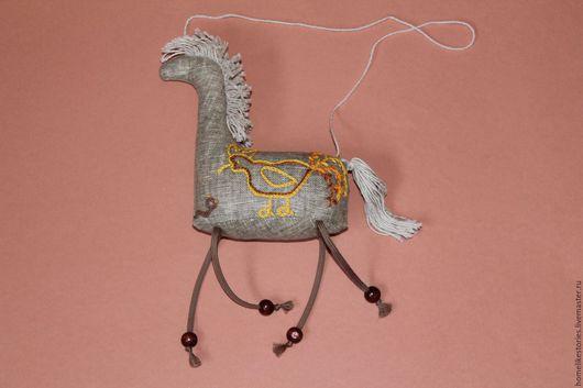 Игрушки животные, ручной работы. Ярмарка Мастеров - ручная работа. Купить Текстильная игрушка Лошадка с вышивкой. Handmade. Лошадка