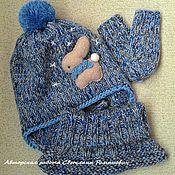 Работы для детей, ручной работы. Ярмарка Мастеров - ручная работа Зимний шерстяной комплект для малыша. Handmade.