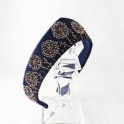 Украшения handmade. Livemaster - original item Windbreak Denim Headband. Handmade.