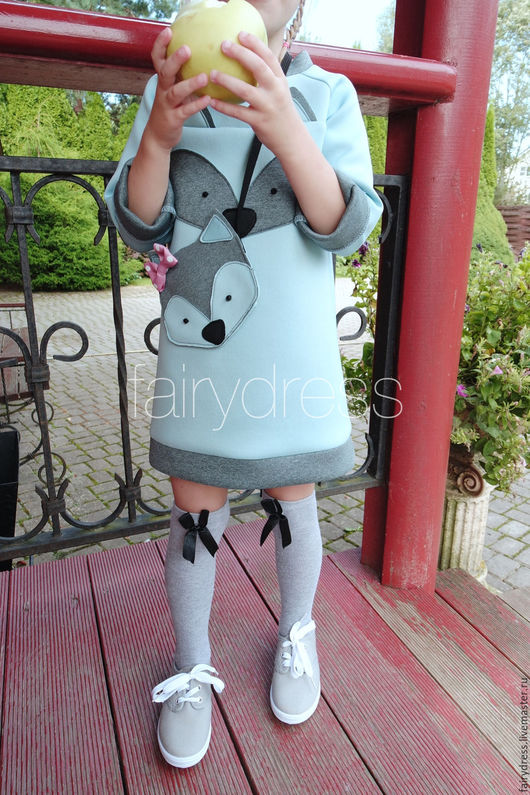 Платье для девочки `Голубая лисичка`