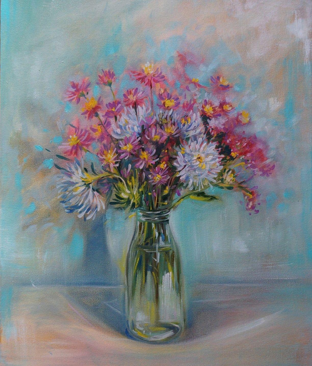 Картина с цветами «Нежный букет», Картины, Кемерово,  Фото №1