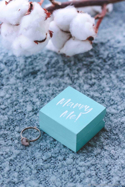 """Свадебные аксессуары ручной работы. Ярмарка Мастеров - ручная работа. Купить Футляр для помолвочного кольца """"Mini Marry Me"""". Handmade."""