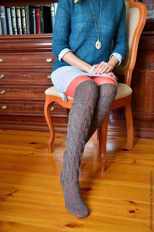 Носки, Чулки ручной работы. Ярмарка Мастеров - ручная работа. Купить Гольфы вязаные. Handmade. Вязаные гольфы, вязаные носочки