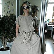 Одежда ручной работы. Ярмарка Мастеров - ручная работа распродажа бохо платье (лен беж). Handmade.