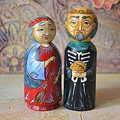 Мягкие игрушки ручной работы. Ярмарка Мастеров - ручная работа Баба Яга, Кощей Бессмертный, фигурки из дерева, ручная роспись. Handmade.