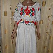 """Одежда ручной работы. Ярмарка Мастеров - ручная работа платье вышитое """" МАКИ"""". Handmade."""