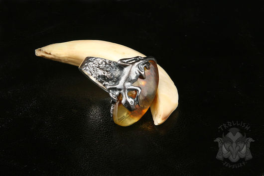 Кольца ручной работы. Ярмарка Мастеров - ручная работа. Купить Salamander!. Handmade. Кольца ручной работы, янтарь, янтарь