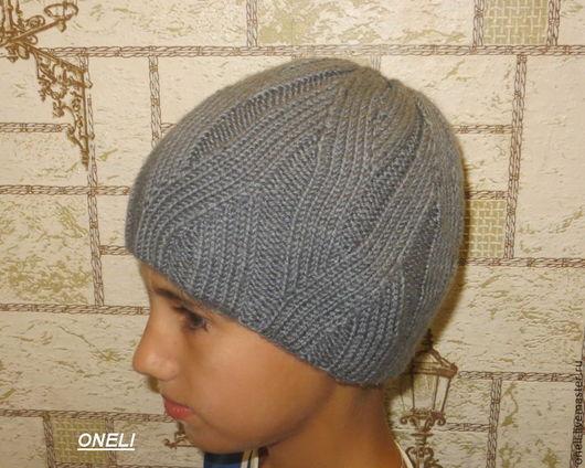 Шапки и шарфы ручной работы. Ярмарка Мастеров - ручная работа. Купить Двойная шапка для мальчика. Handmade. Темно-серый
