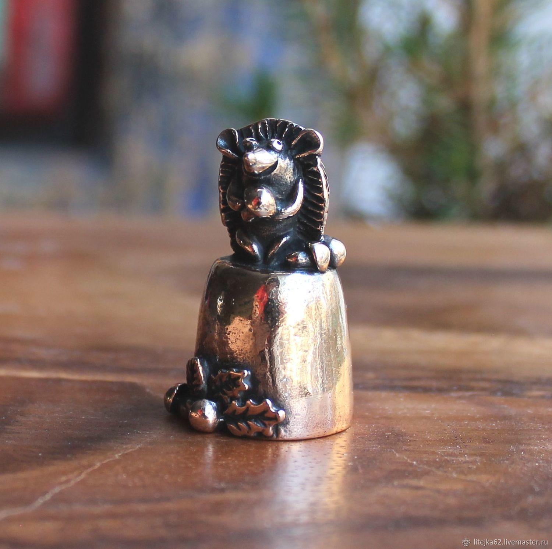 Напёрсток Ёжик с грибочками, Мини фигурки и статуэтки, Рязань,  Фото №1