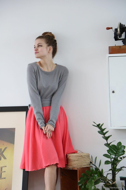 384d1b6bbaf Платья ручной работы. Ярмарка Мастеров - ручная работа. Купить Тёплое  двухцветное короткое платье.
