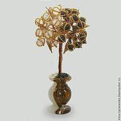 Цветы и флористика handmade. Livemaster - original item Tree from shungite and moonstone