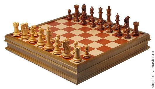 Настольные игры ручной работы. Ярмарка Мастеров - ручная работа. Купить Шахматы-ларец ПроЧесс береза (бархатный ложемент, клетка 5см)  26938. Handmade.
