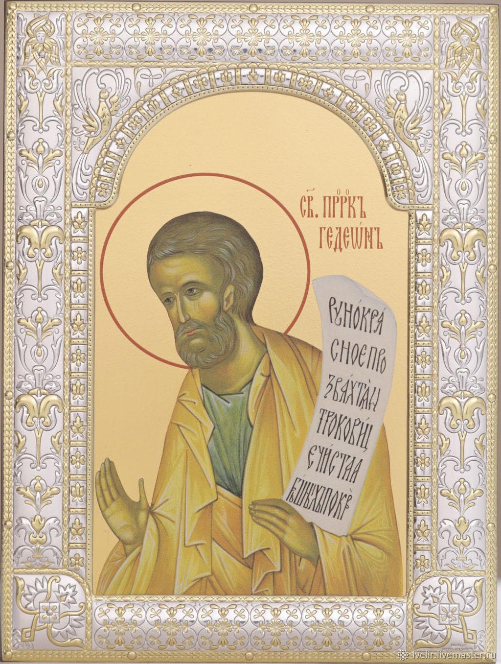 Gideon the prophet (18h24cm), Icons, Moscow,  Фото №1