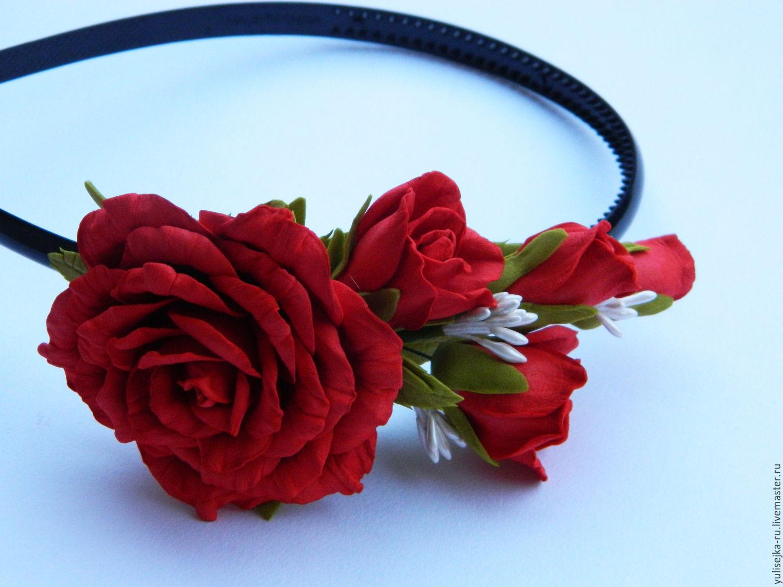ободок из роз фото необычный современный стиль