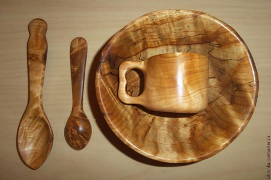 Кружки и чашки ручной работы. Ярмарка Мастеров - ручная работа. Купить Набор  посуды из капа. Handmade. Золотой, кружка из капа