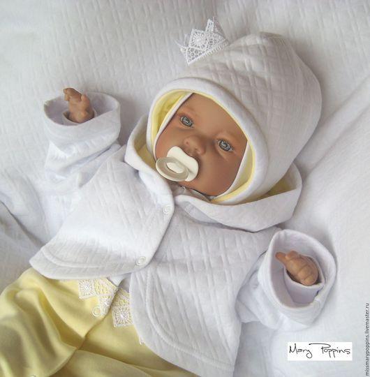 """Для новорожденных, ручной работы. Ярмарка Мастеров - ручная работа. Купить Комплект на выписку """"Принцесса"""" лимонный. Handmade. Лимонный, капитоне"""