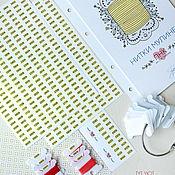 Аксессуары для вышивки ручной работы. Ярмарка Мастеров - ручная работа Наклейки на бобинки для мулине ПНК им. Кирова. Handmade.