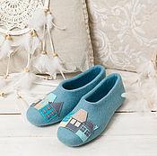 """Обувь ручной работы. Ярмарка Мастеров - ручная работа Тапочки """"Лагуна Style"""". Handmade."""