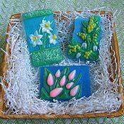 Косметика ручной работы. Ярмарка Мастеров - ручная работа мыло ручной работы - Первые весенние цветы. Handmade.