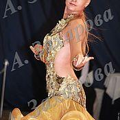 """Одежда ручной работы. Ярмарка Мастеров - ручная работа Платье латина """"Gold rose"""". Handmade."""