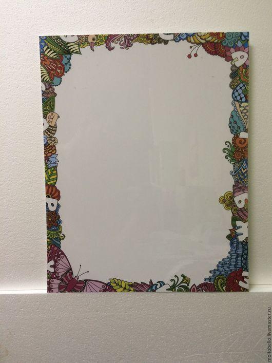 Маркерная доска в чудесной рамочке из цветов украсит ваш дом!