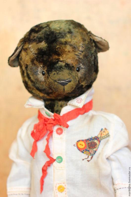 Мишки Тедди ручной работы. Ярмарка Мастеров - ручная работа. Купить Трофим.. Handmade. Тёмно-зелёный, винтажная фурнитура