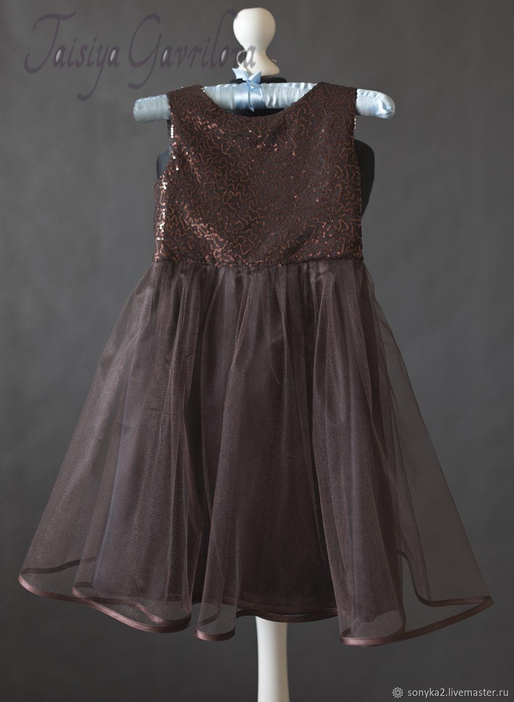 Платья: Детское платье Шоколадная фея, Платье, Санкт-Петербург,  Фото №1