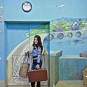 Дизайн и реклама ручной работы. Ярмарка Мастеров - ручная работа Роспись стен офиса tez tur. Handmade.