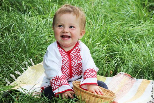 Этническая одежда ручной работы. Ярмарка Мастеров - ручная работа. Купить Рубашка детская с вышивкой в русском стиле. Handmade.