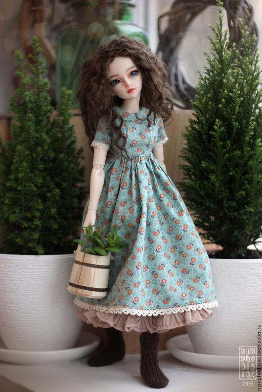 Одежда для кукол ручной работы. Ярмарка Мастеров - ручная работа. Купить Платье на Minifee (Минифи). Handmade. Голубой, minifee, dress